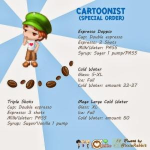 cartoonist - special order